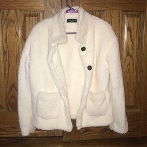 White Fluffy Teddy Coat